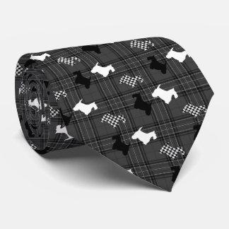 Scotties och kolpläd slips