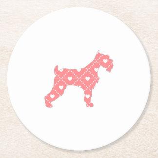 Scotty hund underlägg papper rund