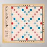 Scrabblevintage Gameboard Poster