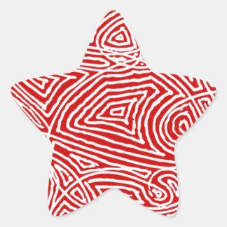 Scribbleprint stjärna stjärnformat klistermärke