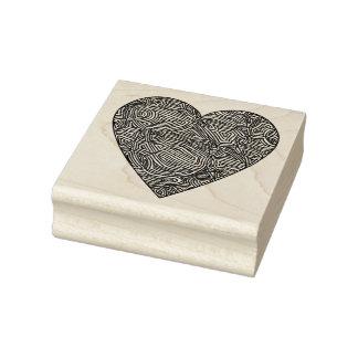 Scribbleprints hjärta gummistämpel