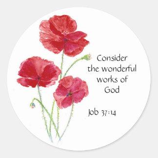 Scripture som är inspirera, citationstecken, runt klistermärke