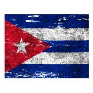 Scuffed och ha på sig kubansk flagga vykort