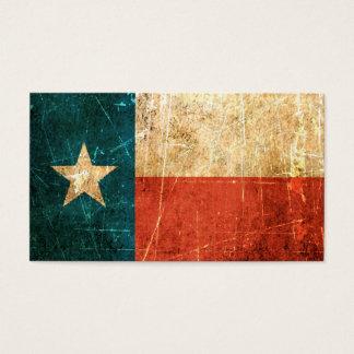 Scuffed och ha på sig Texas flagga Visitkort