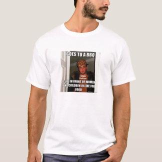 Scumbag klipp fodrar in på T-tröja för BBQ Meme T Shirts