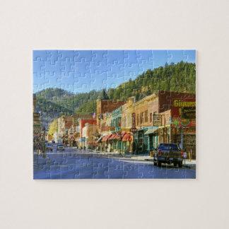 SD Deadwood, historisk guld- bryta town Pussel