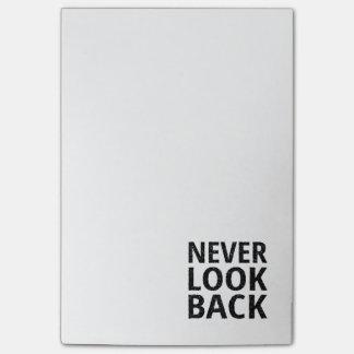 Se aldrig tillbaka inspirera typografi post-it block