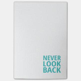 Se aldrig tillbaka Retro typografi Post-it Lappar