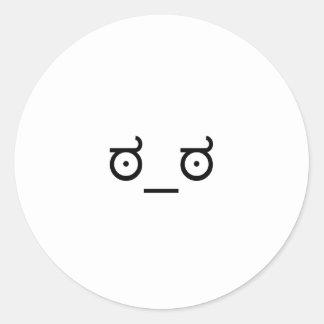 Se av ogillande runt klistermärke