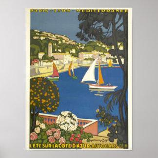 Se den franska Rivieraen Poster