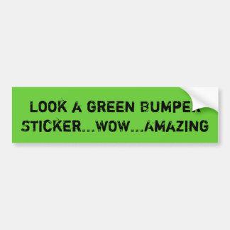 Se en grön bildekal… WOW… som förbluffar Bildekal