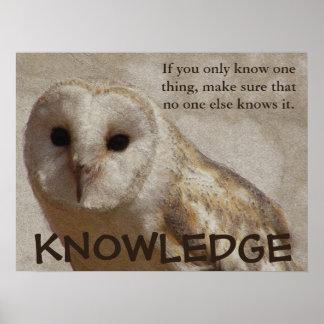 Se till att du endast har kunskapen (v) affischer