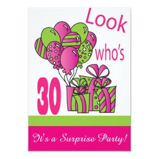 Se vem är den 30% pipe% 30års födelsedag 12,7 x 17,8 cm inbjudningskort