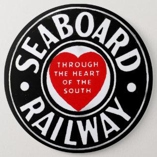 Seaboardluft fodrar den järnväg hjärtalogotypen jumbo knapp rund 15.2 cm