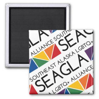 SEAGLA kvadrerar logotypmagneten Magnet
