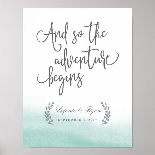 Seaglass Tides som gifta sig välkomnande, Poster