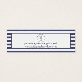 Seahorse för blått för bröllopWebsitekort | Litet Visitkort