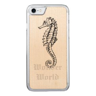 """Seahorse """"för undra värld"""" - carved iPhone 7 skal"""