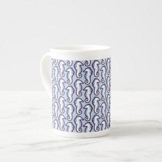 Seahorse Frolic benporslinmugg - blått Tekopp