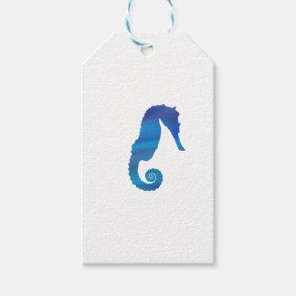 Seahorse i hav presentetikett