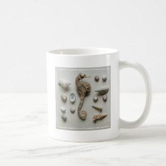 Seahorse och snäckor kaffemugg