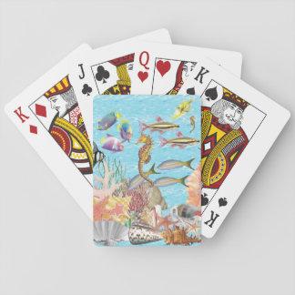 Seahorse som leker kort spel kort