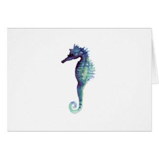 Seahorses för design för blåtthavshäst nautiska hälsningskort