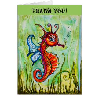 Seahorsetackkort Hälsningskort