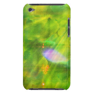 seamless bakgrundsgrönt för färg, gult iPod touch Case-Mate fodral