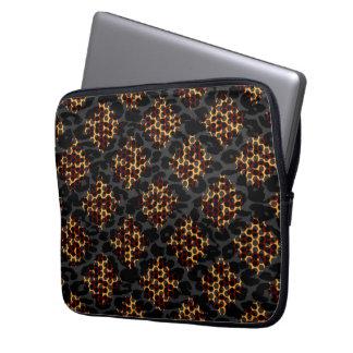 Seamless djur tryckpäls av leoparden laptop sleeve