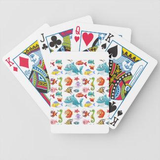 Seamless fisk spelkort