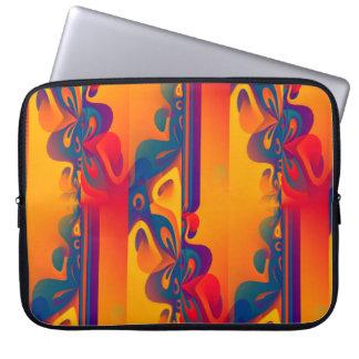 Seamless grafisk design - gult rött I Laptop Sleeve