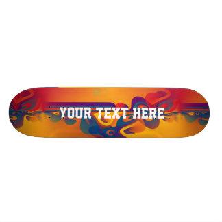 Seamless grafisk design - gult rött I Mini Skateboard Bräda 18,7 Cm