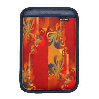 Seamless grafisk design - röd orange mig sleeve för iPad mini