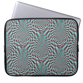 Seamless grungemönster för hypnos + dina idéer laptop sleeve