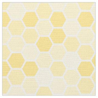 Seamless gult honunghårkammönster tyg