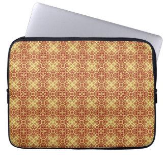 Seamless konstleopardpäls laptop sleeve
