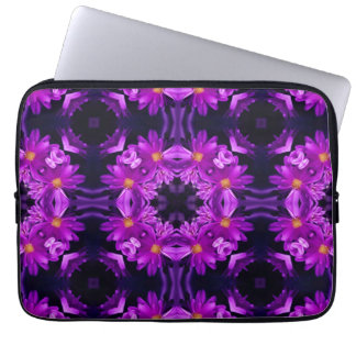 Seamless lila blommor laptop sleeve