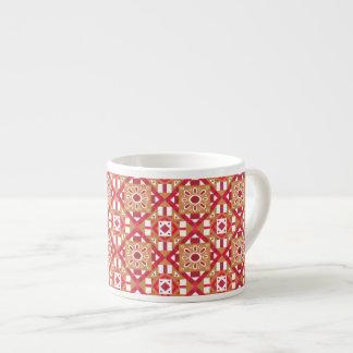 Seamless mönster 1 för geometrisk marockansk espressomugg