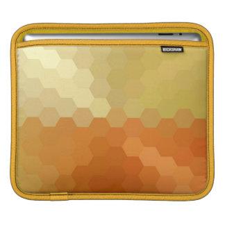 Seamless mönster 2 för gul och orange sparre sleeve för iPads