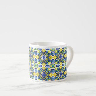 Seamless mönster 3 för geometrisk marockansk espressomugg