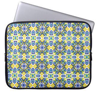 Seamless mönster 3 för geometrisk marockansk laptop sleeve