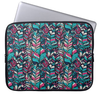 Seamless mönster för färgrik modern Boho fjäder Laptop Fodral