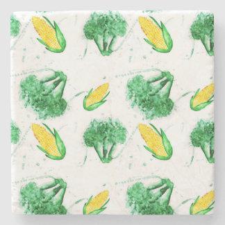 Seamless mönster för grönsak med maj och broccoli underlägg sten