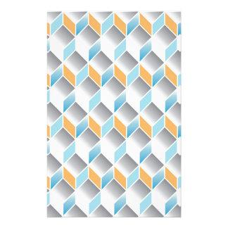 seamless mönster för kub 3d - geometrisk design - brevpapper