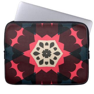 Seamless mönster för Retro färgrika hjärtor Laptop Fodral