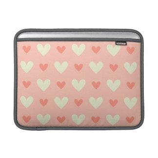 Seamless mönster för söta gulliga kärlekhjärtor sleeve för MacBook air