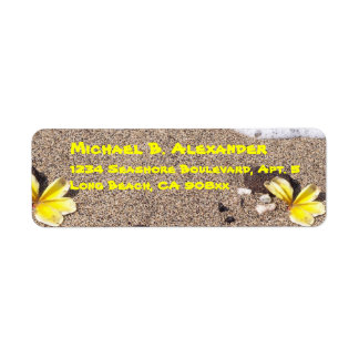 Seashore och snäckor returadress etikett