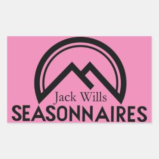 Seasonnaire klistermärkear rektangulärt klistermärke