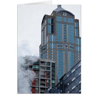 Seattle 2017 stads- fotografikort hälsningskort